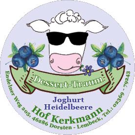 Dessert-Traum Joghurt mit Heidelbeere