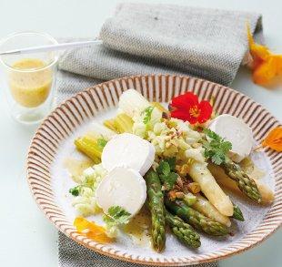 Spargelsalat mit Pistazien und Hofziegenkäse, Rezepte