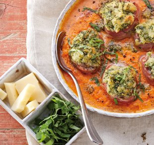 Rezepte, Überbackene Toskana-Filets mit Hofhartkäse