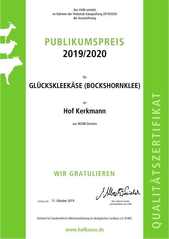 Deutscher Käsepreis 2019-2020